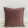 Berry Velvet Throw Pillow