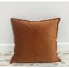 Dusty Orange Velvet Throw Pillow