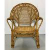 Vintage Rattan Bamboo Armchair