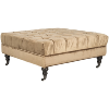 Golden Olive Tufted Ottoman