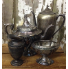 Set: 4 Assorted Vintage Silver & Pewter Props
