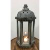 Rustic Wood & Metal Lantern