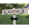 Staked Reception Directional Sign