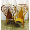 Bentwood Rattan Wing Back Chairs
