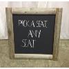 Rustic Wooden Framed Chalkboard