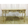 Ornate Grey & Gold Parlor Desk