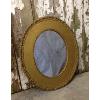 Vintage Oval Gold Mirror