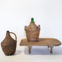 Demijohn in Wicker Basket // Medium