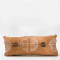 Pillow // Rust Mudcloth Color Block (lumbar)
