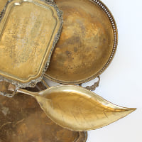 Vintage Brass Serving Trays