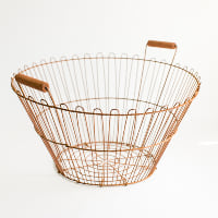 Rusty Potato Basket