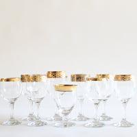 Gold-Rimmed Goblets