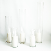 Glass Pillar Candle Vases