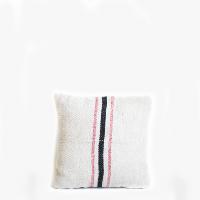 Pillow // Grainsack Black + Red Stripe