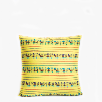 Pillow // Mexican Embroidered Pillow, Yellow