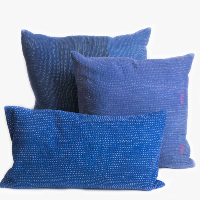Indigo Kantha Pillows (set of 3)