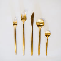 Gold Moda Flatware - 5 pc. setting