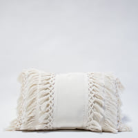 Pillow // Ivory Fringe Lumbar