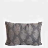 Pillow // Charcoal + Gray Pattern