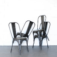 Gunmetal Tolix Chair