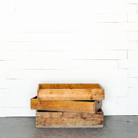 Shallow Wooden Crates