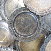 Vintage Silver Serving Trays