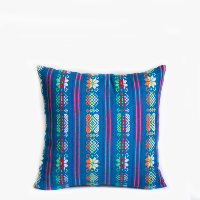 PIllow // Mexican Embroidered PIllow, Blue