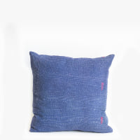 Pillow // Indigo Kantha, med