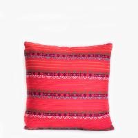 Pillow // Mexican Embroidered Pillow, Fuschia
