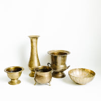 Assorted Brass Vessels