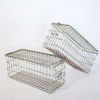 Metal Locker Basket // With Lid