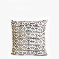 Pillow // Pakistan Embroidered Black White (med)
