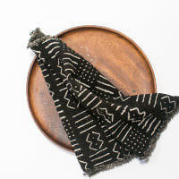 Black Print Mudcloth Napkins