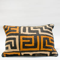 Pillow // Kuba Cloth - Mustard/Tan