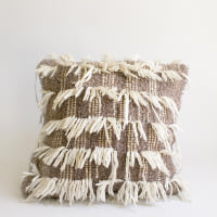 Pillow // Woolly gray/white