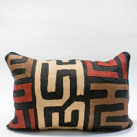 Pillow // Kuba Cloth - Red/Tan