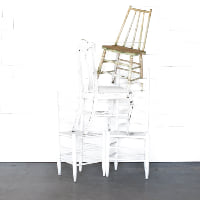 White Mismatched Dining Chair