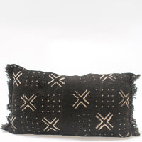 Pillow // Black Mudcloth (lumbar)