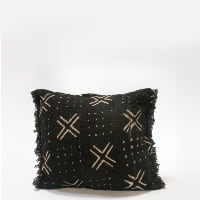Pillow // Black Mudcloth, sm