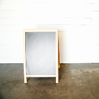 A-Frame Chalkboard - Light