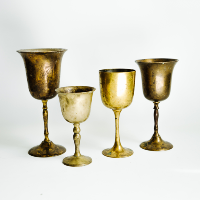 Assorted Brass Goblets