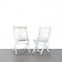 White Beckett Camp Chairs