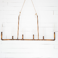 Suspended Copper Candelabra
