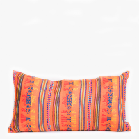 Pillow // Mexican Embroidered PIllow, Orange