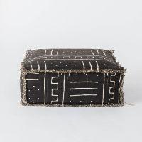 Black Mudcloth Floor Cushion