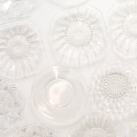 Clear Glass Dessert Plates