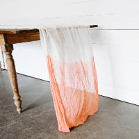 Custom Dip-Dyed Cheesecloth Runner