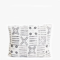 Pillow // White Mudcloth, sm