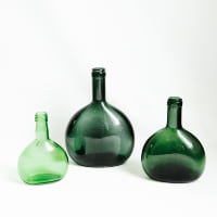 Assorted Green Bottles
