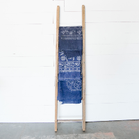Chinese Indigo Batik Dyed Cloth